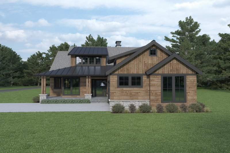 Craftsman Style House Plan - 3 Beds 2.5 Baths 2476 Sq/Ft Plan #1070-105 Exterior - Front Elevation