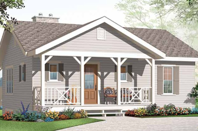 Architectural House Design - Craftsman Exterior - Front Elevation Plan #23-2462