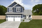 Craftsman Style House Plan - 3 Beds 2.5 Baths 1871 Sq/Ft Plan #497-2 Exterior - Front Elevation