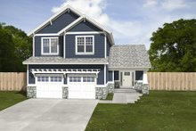 Dream House Plan - Craftsman Exterior - Front Elevation Plan #497-2