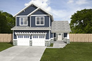 House Plan Design - Craftsman Exterior - Front Elevation Plan #497-2
