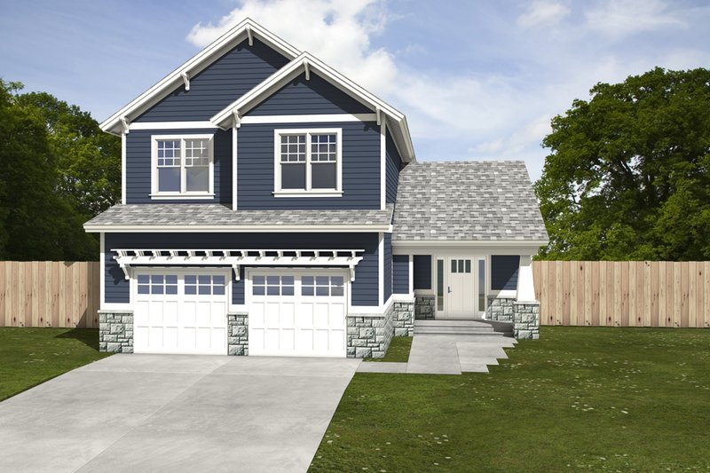 Craftsman Exterior - Front Elevation Plan #497-2