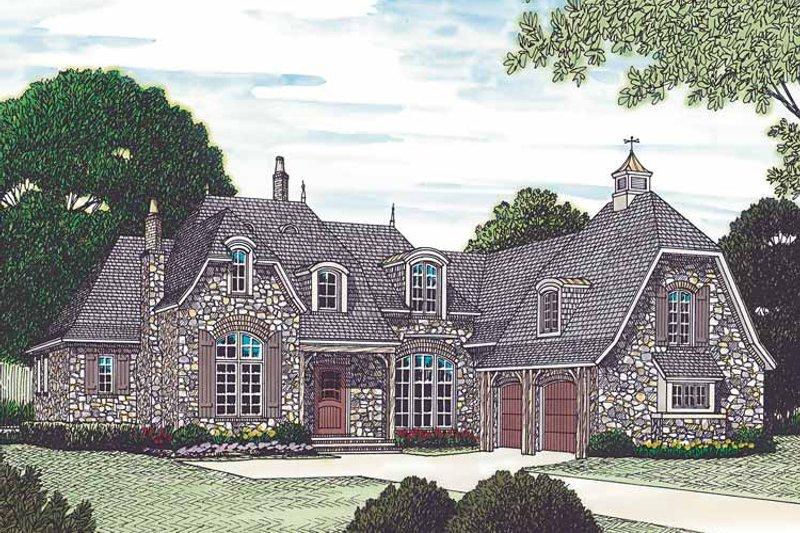 Architectural House Design - European Exterior - Front Elevation Plan #453-454