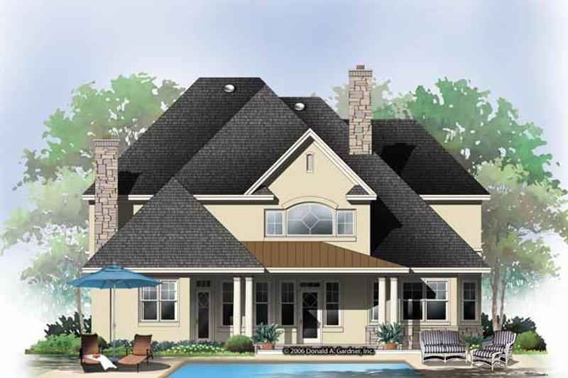 European Exterior - Rear Elevation Plan #929-863 - Houseplans.com