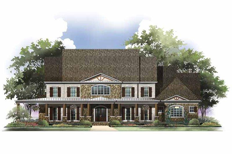 Colonial Exterior - Front Elevation Plan #119-413 - Houseplans.com