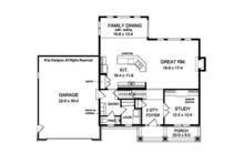 Traditional Floor Plan - Main Floor Plan Plan #1010-129