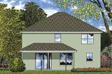 House Plan Design - Mediterranean Exterior - Rear Elevation Plan #417-834