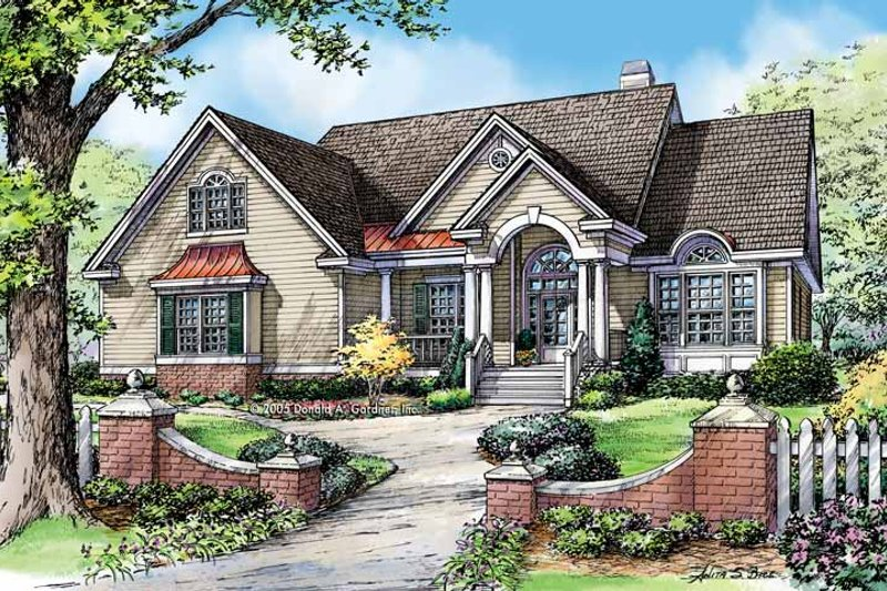 Architectural House Design - Traditional Exterior - Front Elevation Plan #929-779