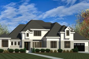 Dream House Plan - European Exterior - Front Elevation Plan #920-107