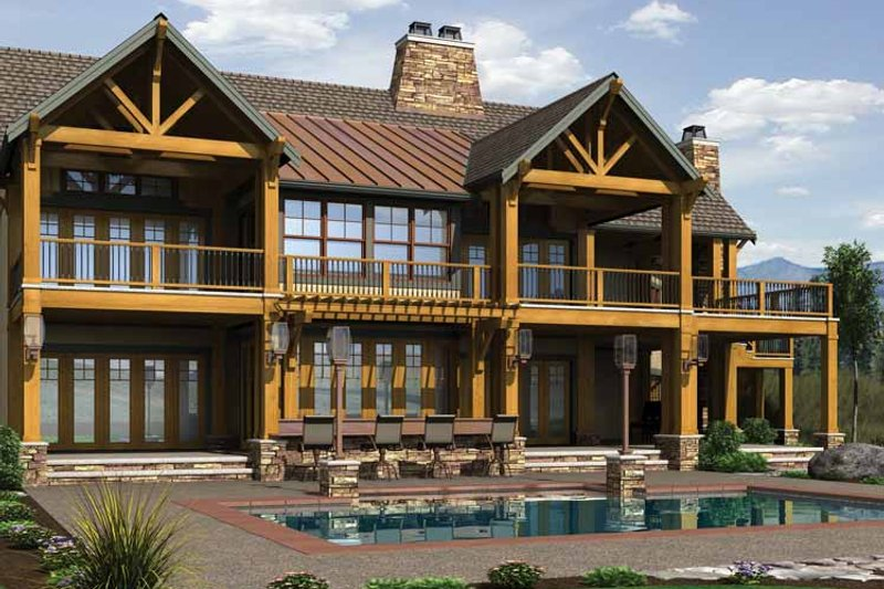 Craftsman Exterior - Rear Elevation Plan #132-560 - Houseplans.com