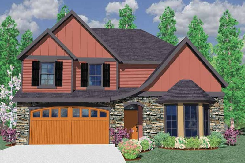 Traditional Exterior - Front Elevation Plan #509-305 - Houseplans.com