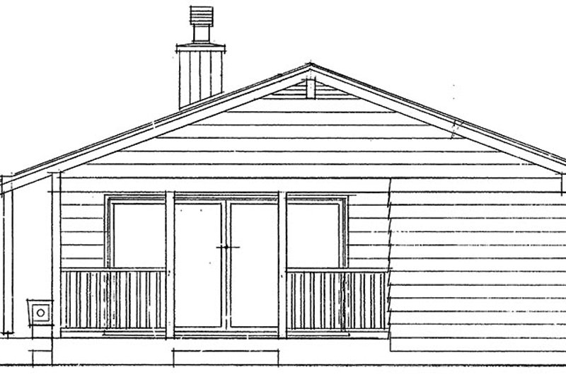 Ranch Exterior - Other Elevation Plan #47-1033 - Houseplans.com