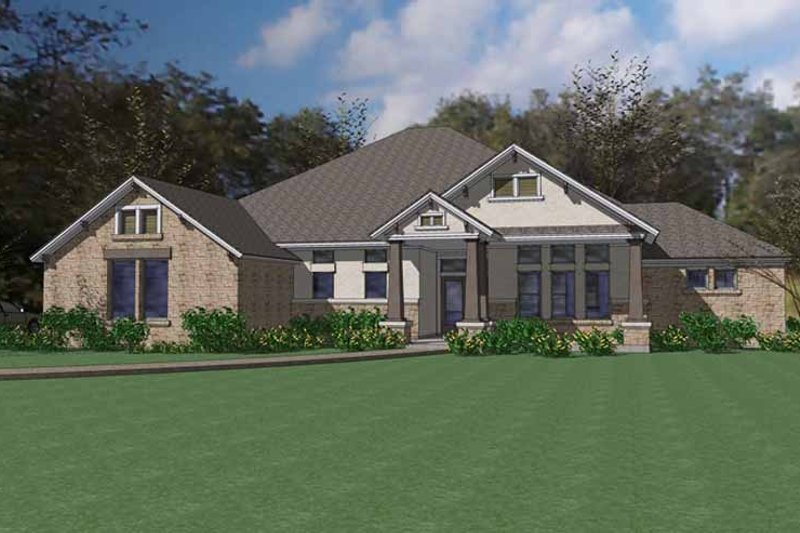 Craftsman Exterior - Front Elevation Plan #120-233
