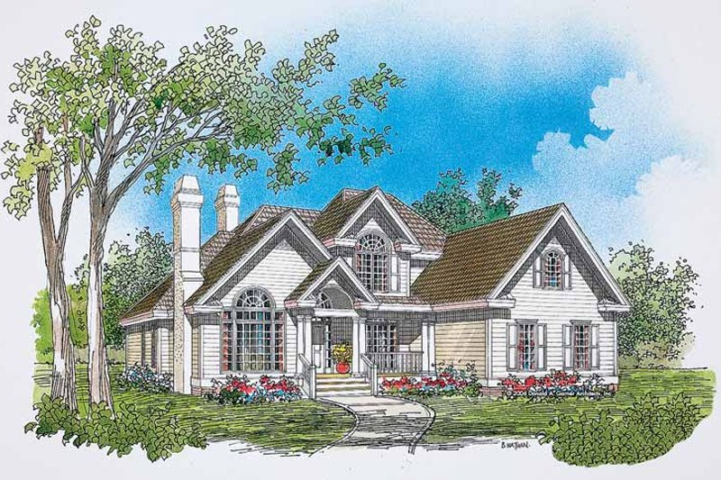 Traditional Exterior - Front Elevation Plan #929-249 - Houseplans.com