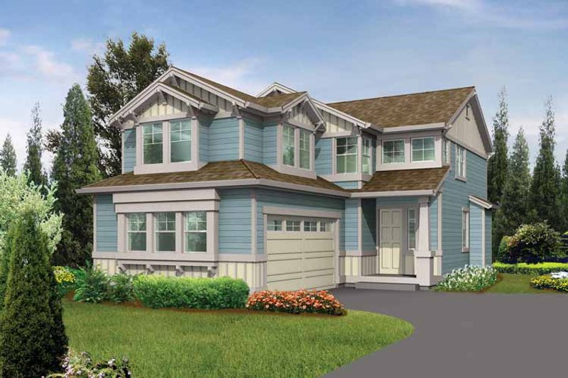 Craftsman Exterior - Front Elevation Plan #132-292