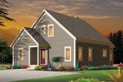 European Style House Plan - 2 Beds 2 Baths 1742 Sq/Ft Plan #23-2494 Exterior - Rear Elevation