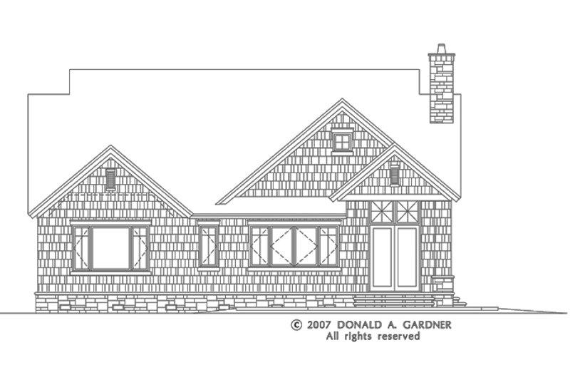 European Exterior - Rear Elevation Plan #929-830 - Houseplans.com