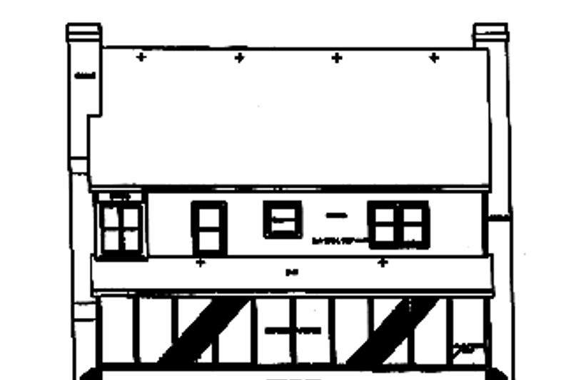 Classical Exterior - Rear Elevation Plan #472-359