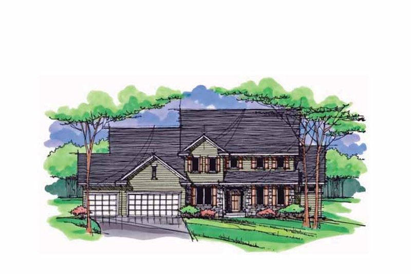Dream House Plan - Colonial Exterior - Front Elevation Plan #51-1020
