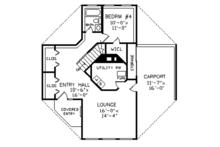 Contemporary Floor Plan - Main Floor Plan Plan #314-293