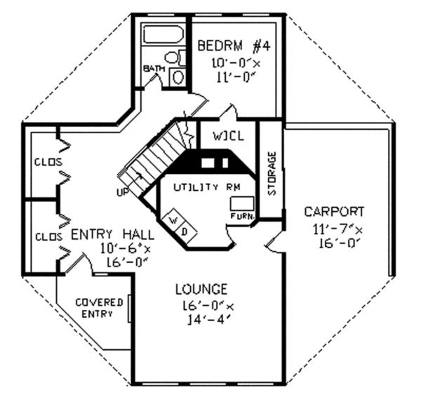 Home Plan - Contemporary Floor Plan - Main Floor Plan #314-293