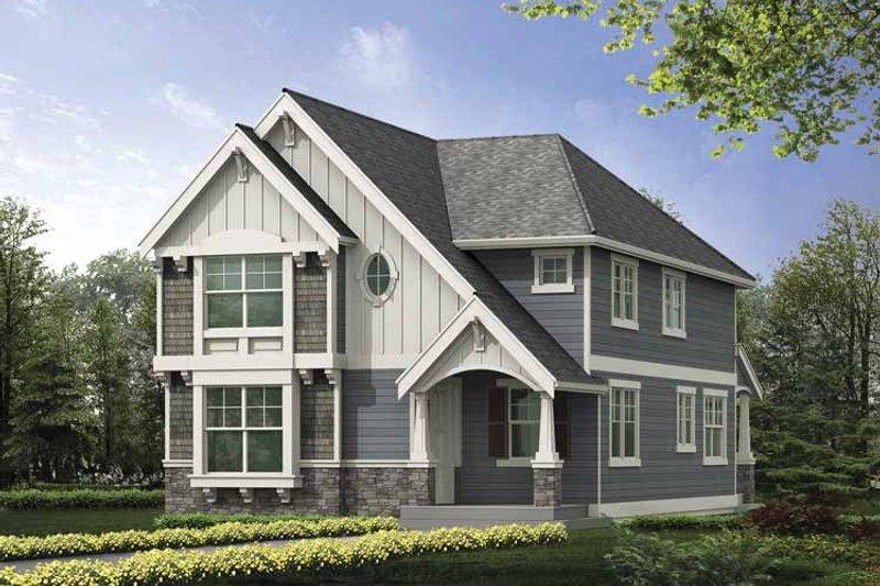 Dream House Plan - Craftsman Exterior - Front Elevation Plan #132-387