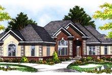 Dream House Plan - Mediterranean Exterior - Front Elevation Plan #70-780