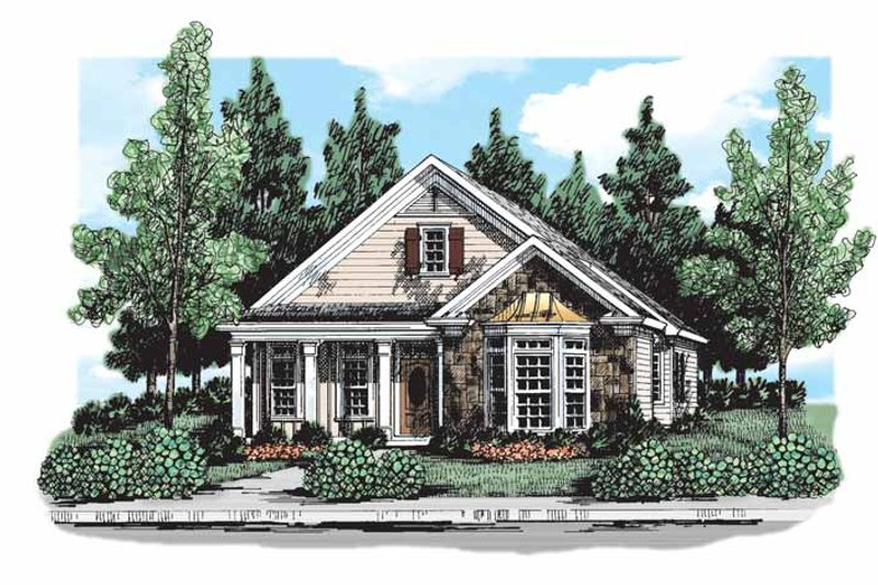 Country Exterior - Front Elevation Plan #927-296