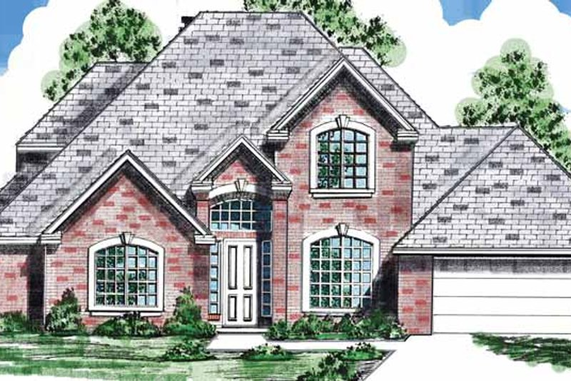 Traditional Exterior - Front Elevation Plan #52-283 - Houseplans.com