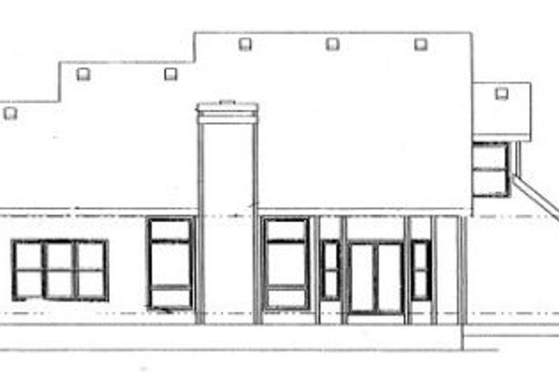 Traditional Exterior - Rear Elevation Plan #20-268 - Houseplans.com