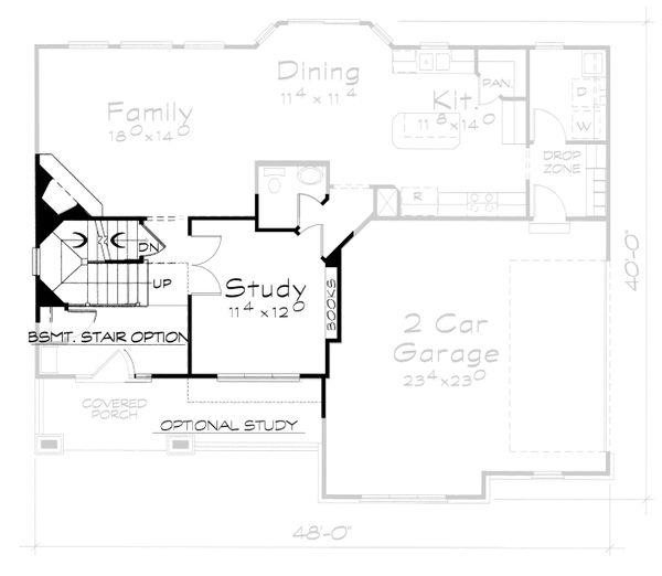 Traditional Floor Plan - Other Floor Plan Plan #20-2095