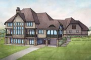 Country Style House Plan - 3 Beds 3.5 Baths 3698 Sq/Ft Plan #928-269 Exterior - Rear Elevation