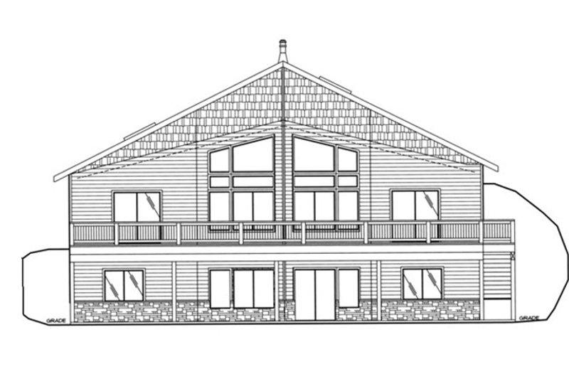 Ranch Exterior - Rear Elevation Plan #117-833 - Houseplans.com