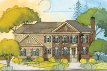 Home Plan - Colonial Exterior - Front Elevation Plan #429-410