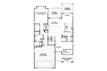 Craftsman Floor Plan - Main Floor Plan Plan #991-32