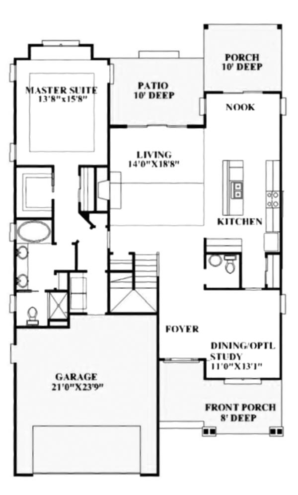 Craftsman Floor Plan - Main Floor Plan Plan #991-32