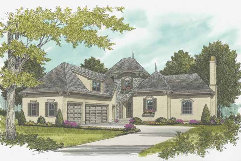 Country Exterior - Front Elevation Plan #413-901