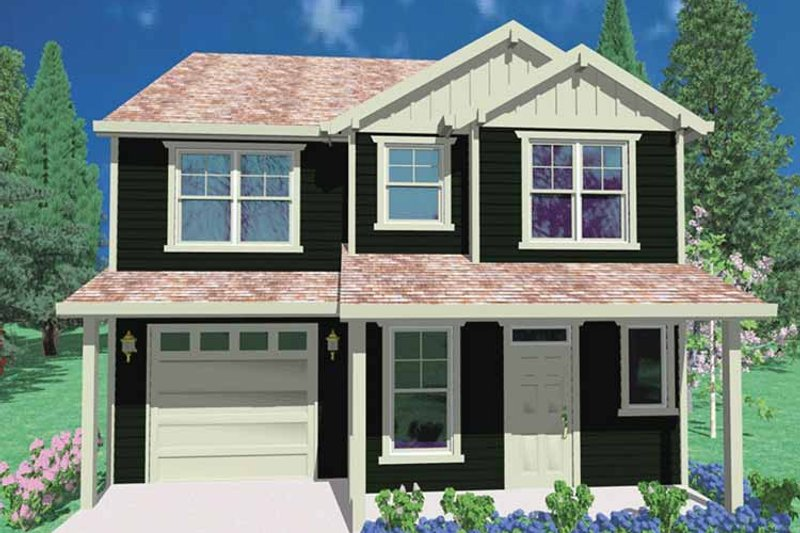 Prairie Exterior - Front Elevation Plan #509-191 - Houseplans.com