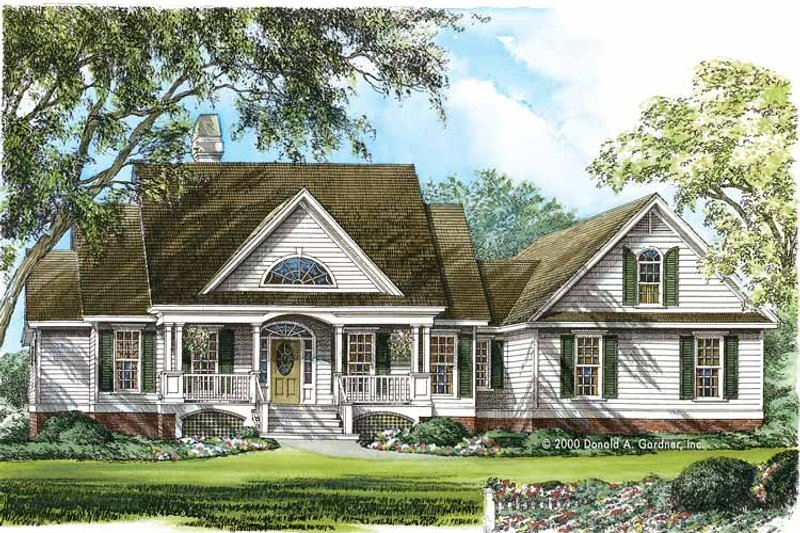 Country Exterior - Front Elevation Plan #929-753 - Houseplans.com
