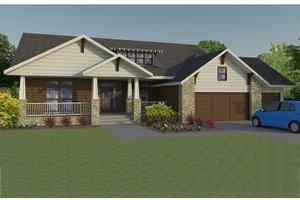 Craftsman Exterior - Front Elevation Plan #1063-1