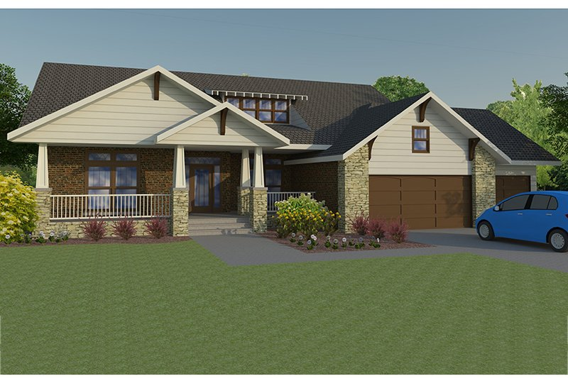 Craftsman Exterior - Front Elevation Plan #1063-1