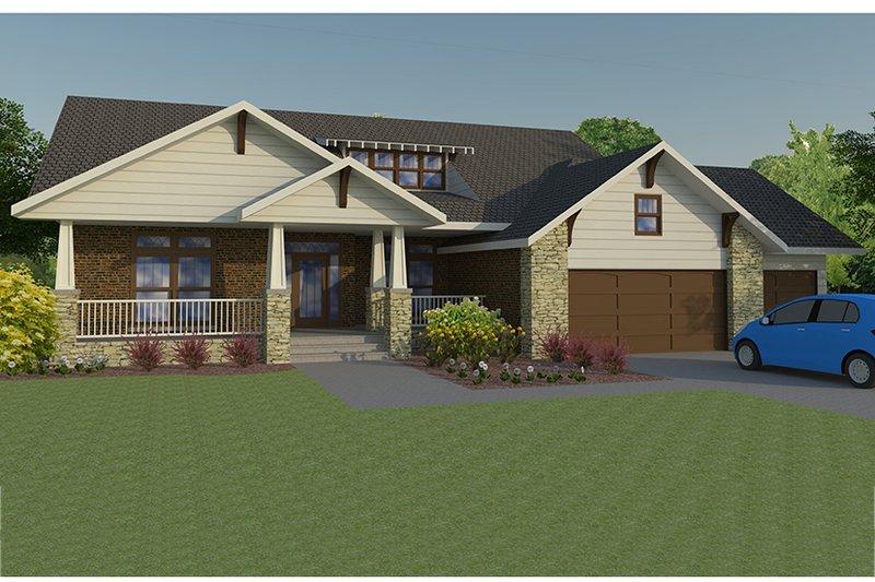 Dream House Plan - Craftsman Exterior - Front Elevation Plan #1063-1