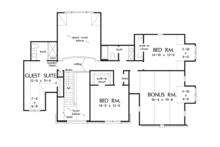 European Floor Plan - Upper Floor Plan Plan #929-915