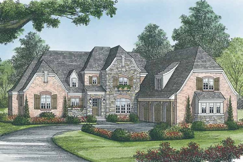 European Exterior - Front Elevation Plan #453-583