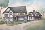 Craftsman Style House Plan - 3 Beds 2.5 Baths 4189 Sq/Ft Plan #928-312 Exterior - Front Elevation