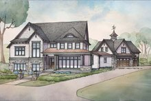 Dream House Plan - Craftsman Exterior - Front Elevation Plan #928-312