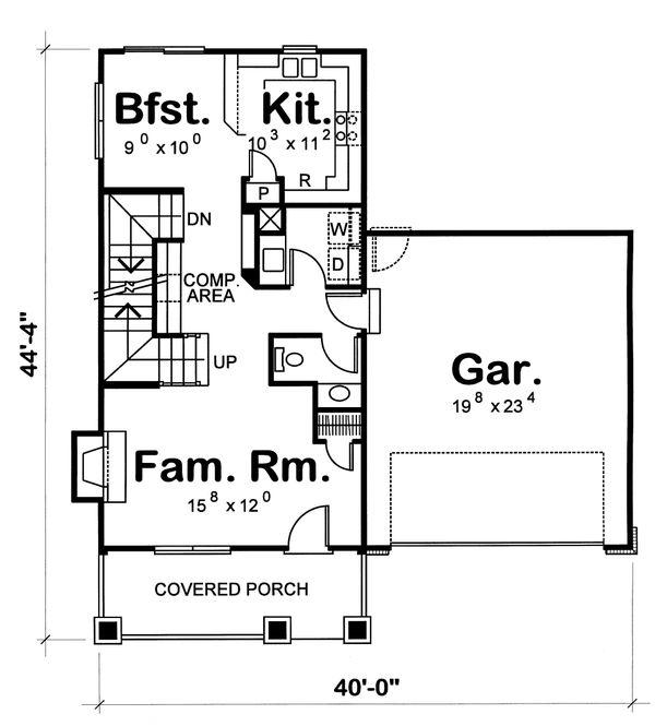 Home Plan - Craftsman Floor Plan - Main Floor Plan #20-1217