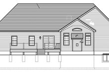 House Plan Design - Ranch Exterior - Rear Elevation Plan #1010-141