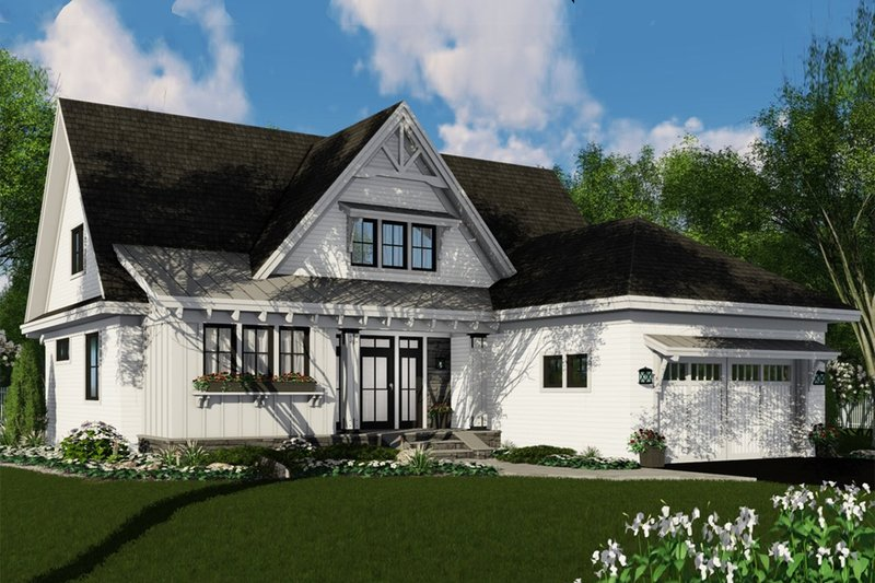 Dream House Plan - Farmhouse Exterior - Front Elevation Plan #51-1146