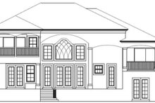 Mediterranean Exterior - Rear Elevation Plan #1017-24